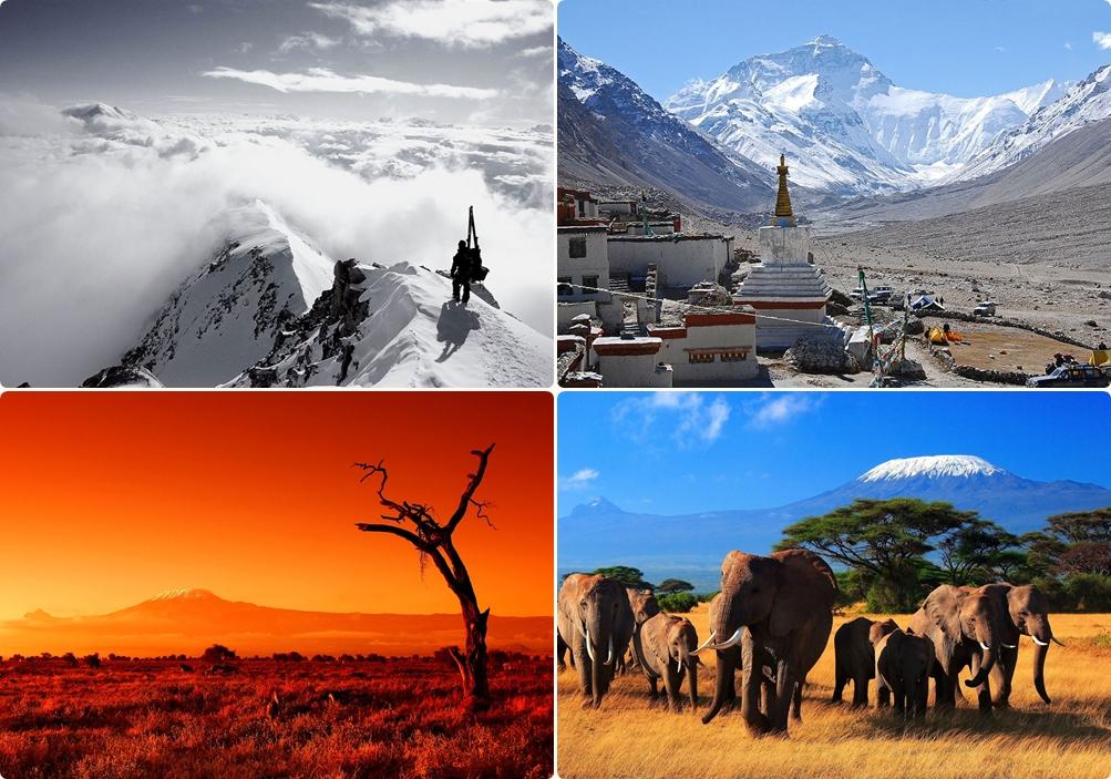 Самые высокие горы на 6 континентах