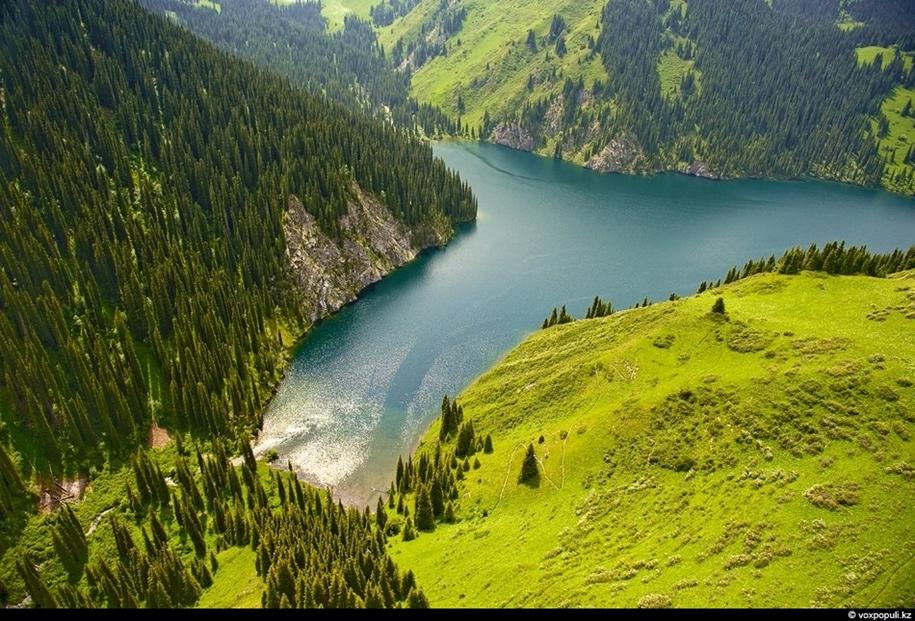 Казахстан с высоты полета птиц