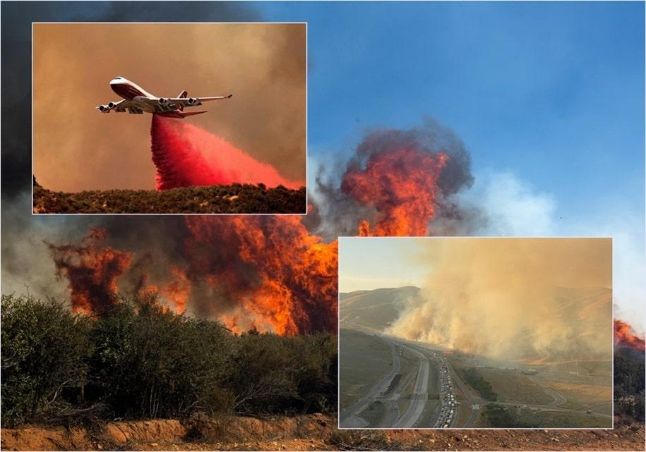 «Яблочный пожар» в Калифорнии