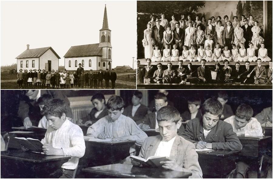 Редкие ретрофотографии школ XIX-XX веков и школьные фото советских знаменитостей