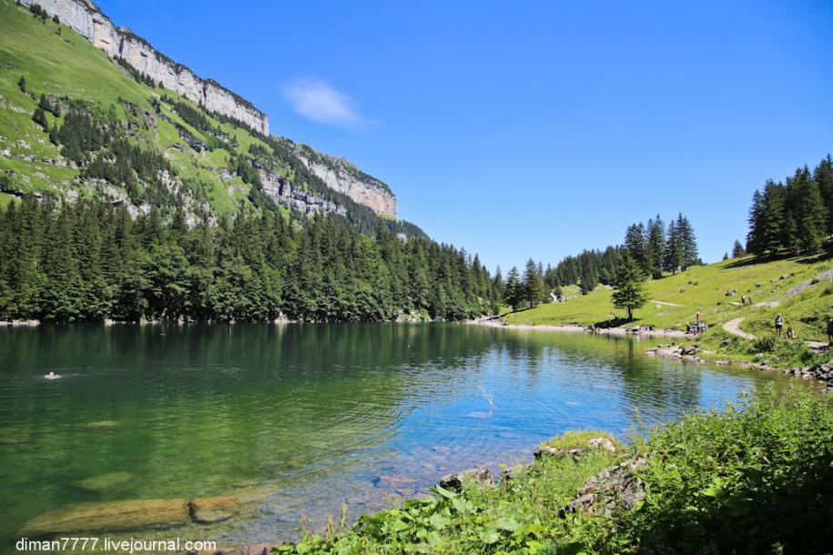 Прогулка в горы Швейцарии